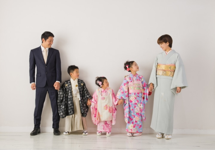 家族の七五三写真
